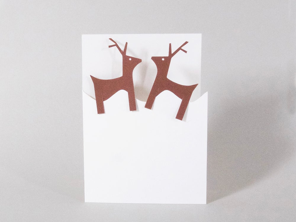 Image of 2 x Reindeer Bookmarks Card