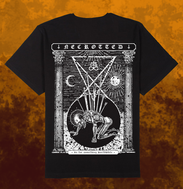 Image of NECROTTED - Die For Something Worthwhile T-Shirt + CD [pre-order]