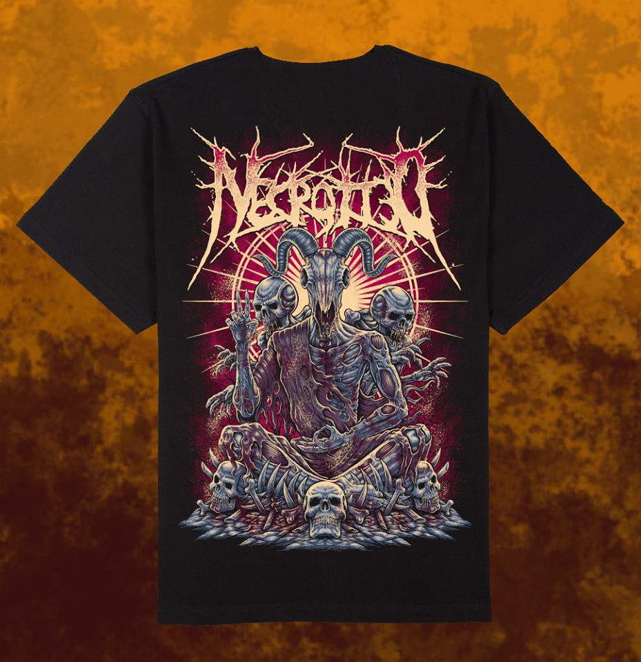 Image of NECROTTED - Goat T-Shirt + CD
