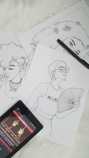 Image of Lets Color, Sis! coloring book