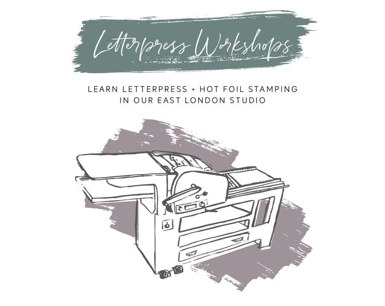 Image of Thursday 26th September 2019 6-8:30pm: Letterpress + Hot Foil Printing Workshop