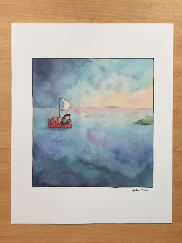 "Image of ""Sailing Sunrise"" Print"