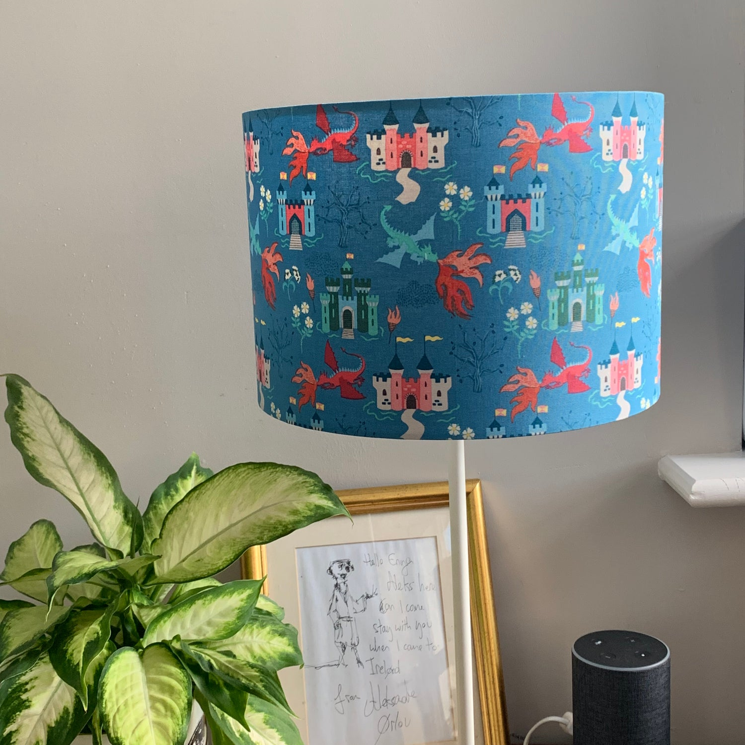 Image of Dragon Castle Light Blue Shade 30cm