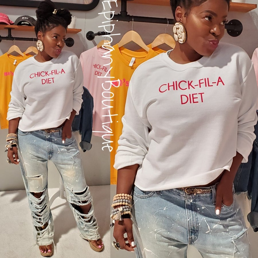 Image of The Chick-Fil-A Diet Sweater-**Reg & Plus/Curvy**