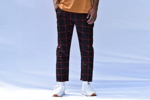 Image of Cropped Grid Pants