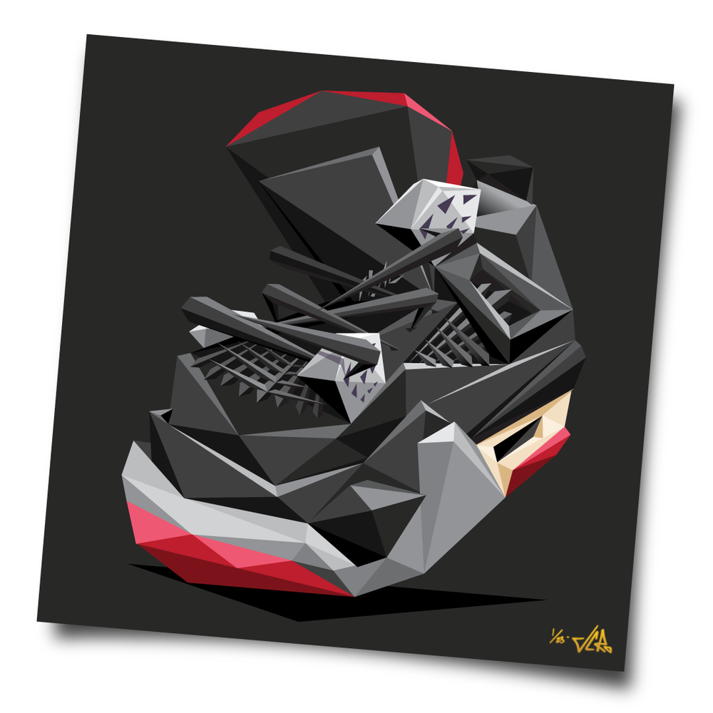 "Image of JCRo - ""Black Cement 4"" limited edition print (dark)"