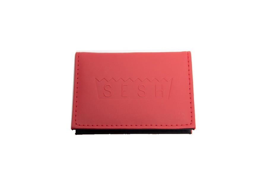 Image of Sesh Logo Red Wallet