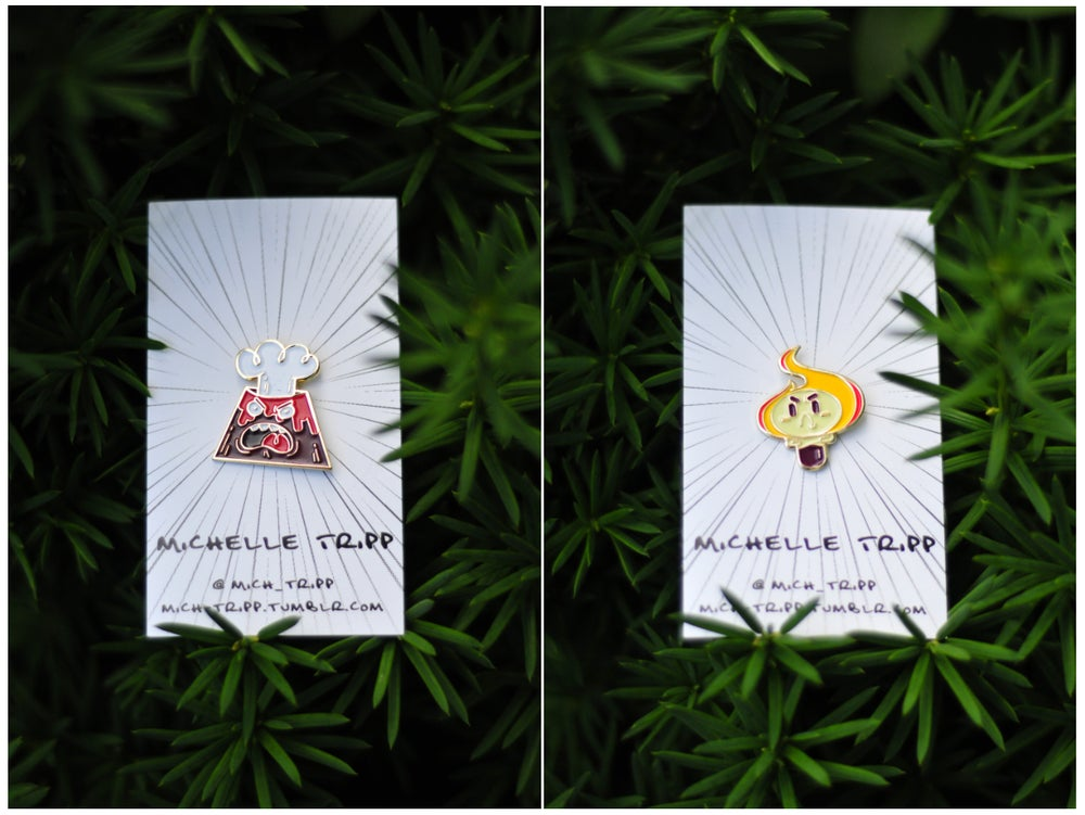 Image of Angry Torch and Volcano Pin