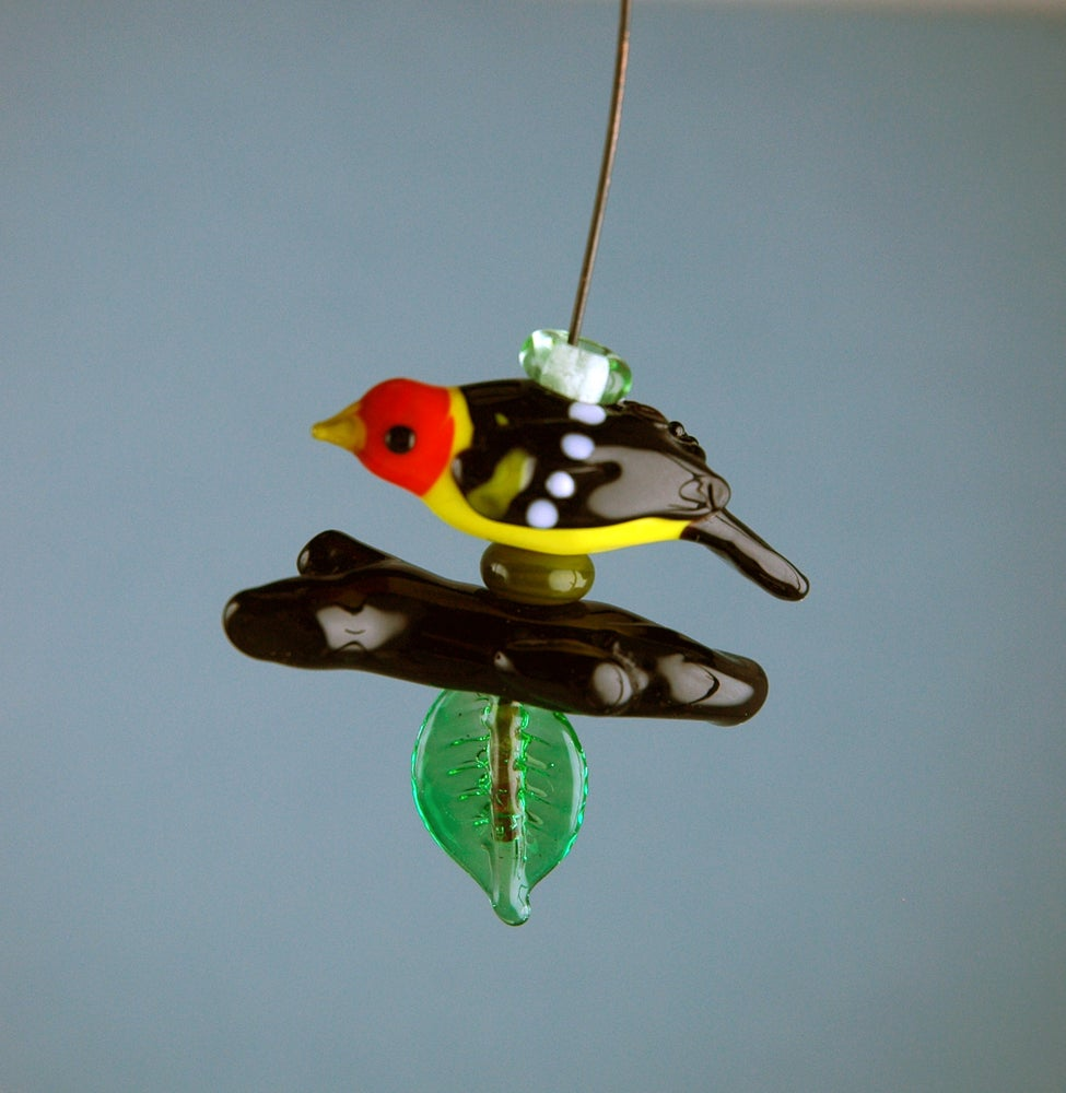 Image of Western Tanager set & bail (6 beads)