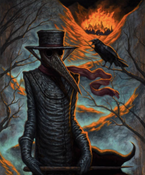 "Image of ""Plague Doctor"" Canvas Giclee 11x14"""