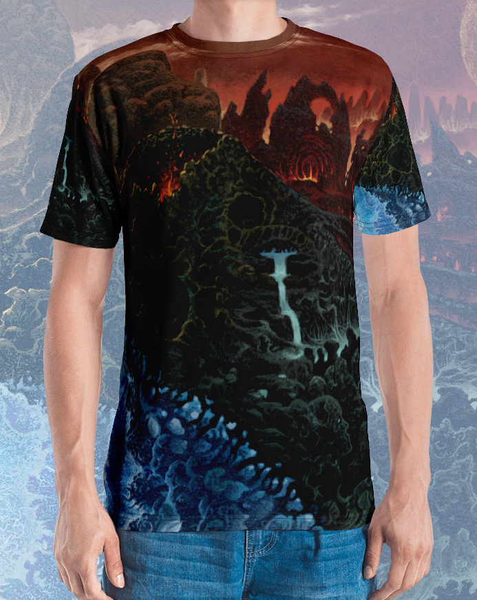 Image of Elemental Desolation All Over Print Shirt by Mark Cooper Art