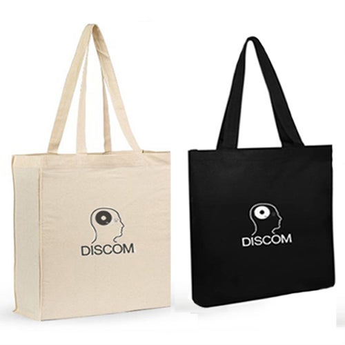 Image of Discom Bags, Beige/Black, 100% Eco-Cotton, free packing material, 5 EUR shipping with tracking