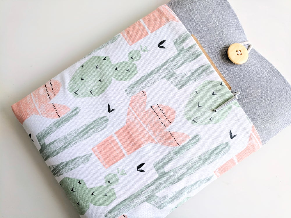 Image of Cactus Laptop Case, Padded with Pocket, Custom Made to Order for Any iPad, MacBook, Kindle
