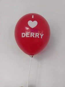 Image of I love Derry Balloon IT Pennywise