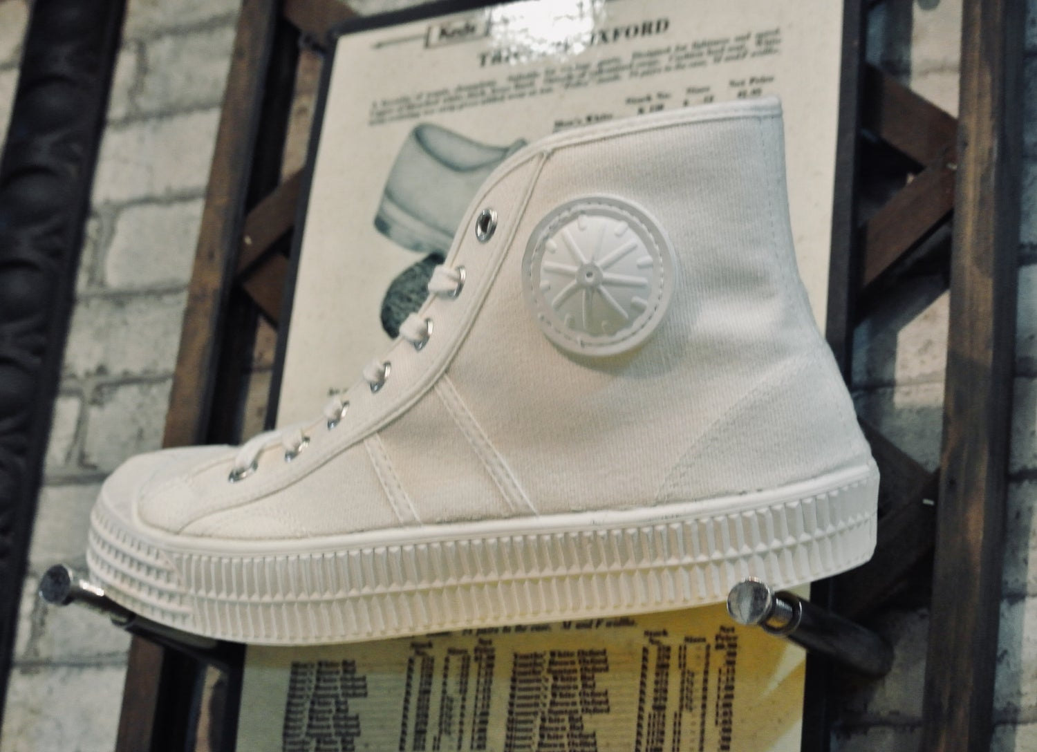 Image of VEGANCRAFT Czech army trainer hi sneaker shoes made in Slovakia