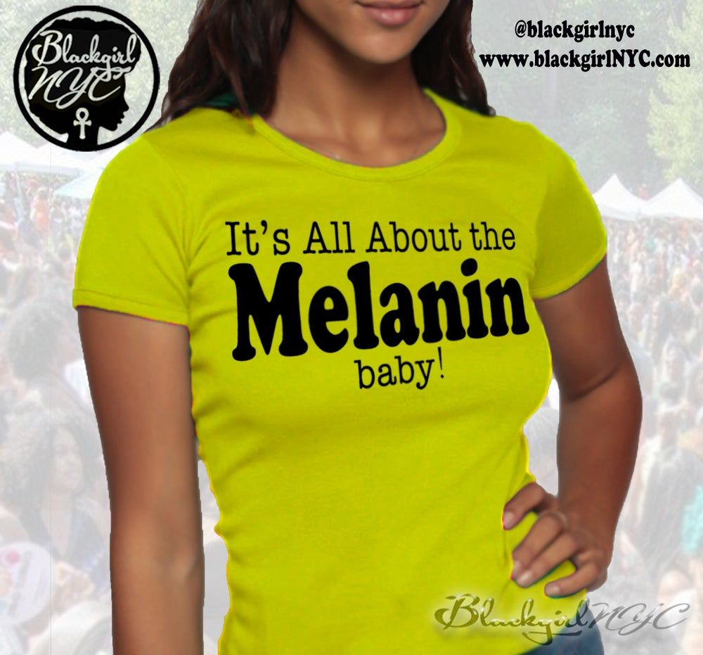 Image of YELLOW It's All About the MELANIN, baby!  Baby Tee