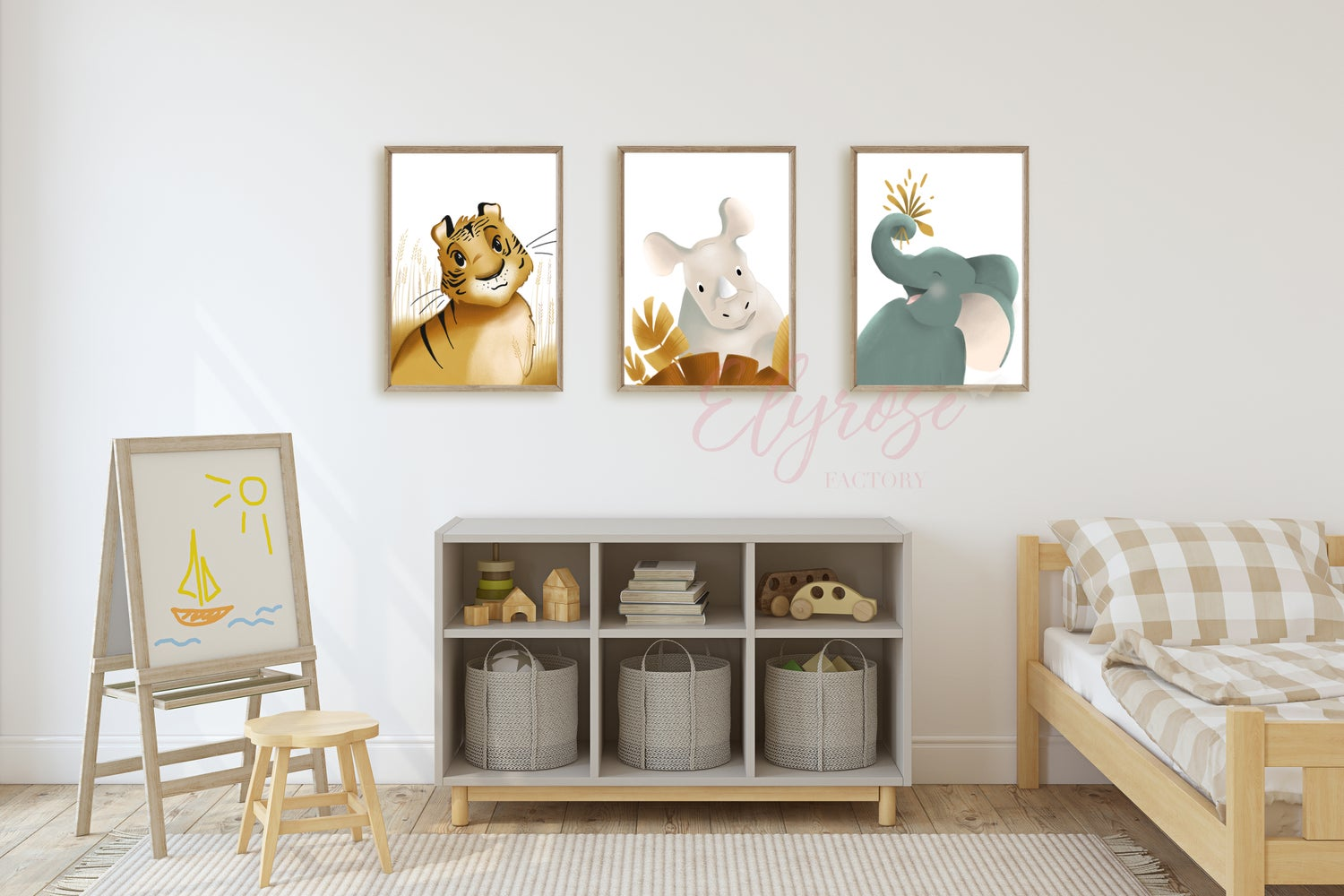 Image of Pack de 3 affiches Animaux