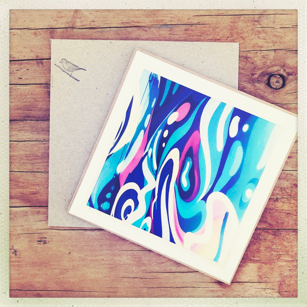 Image of roses & swirls photo gift card