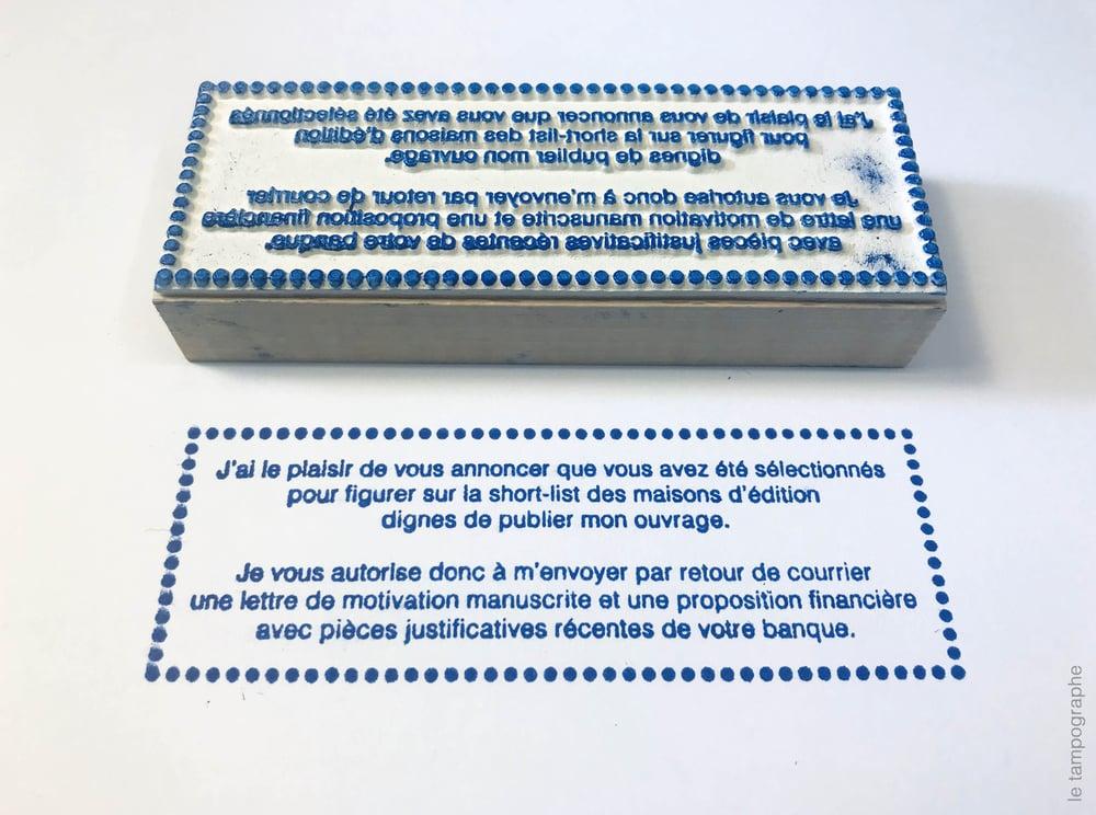 Image of Tampon pour écrivain n°3