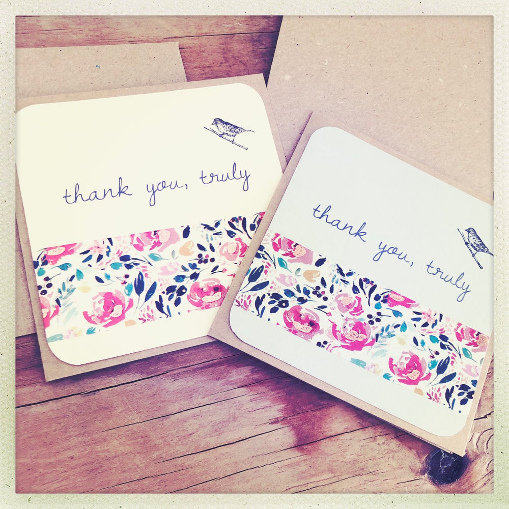 Image of new thank you gift cards