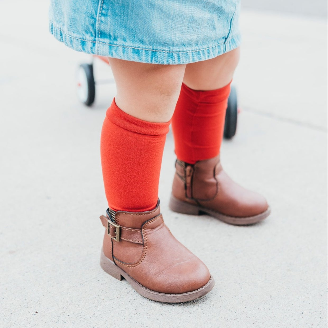 Image of Rust Red Knee-Highs