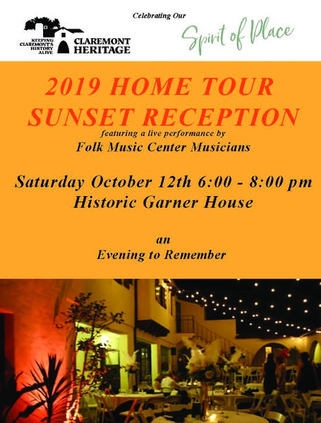 Image of 2019 Home Tour Sunset Reception at Historic Garner House featuring the Folk Music Center