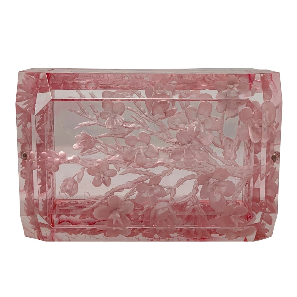 Image of  Flower Desk Lucite Boxes (Cherry Blossom or Forsythia)