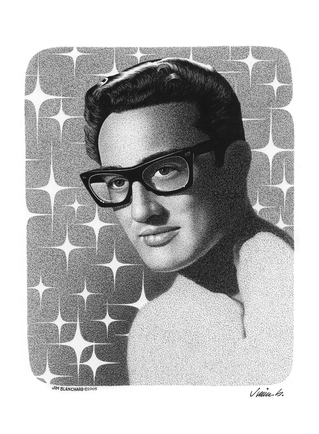 Image of BUDDY HOLLY poster print