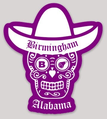 Image of B'ham Sugar Skull Decal
