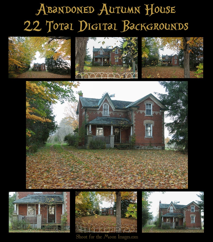 Image of Abandoned Autumn House Digital Backgrounds