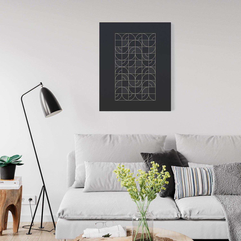 Image of Geometric Night Harvest Canvas Print