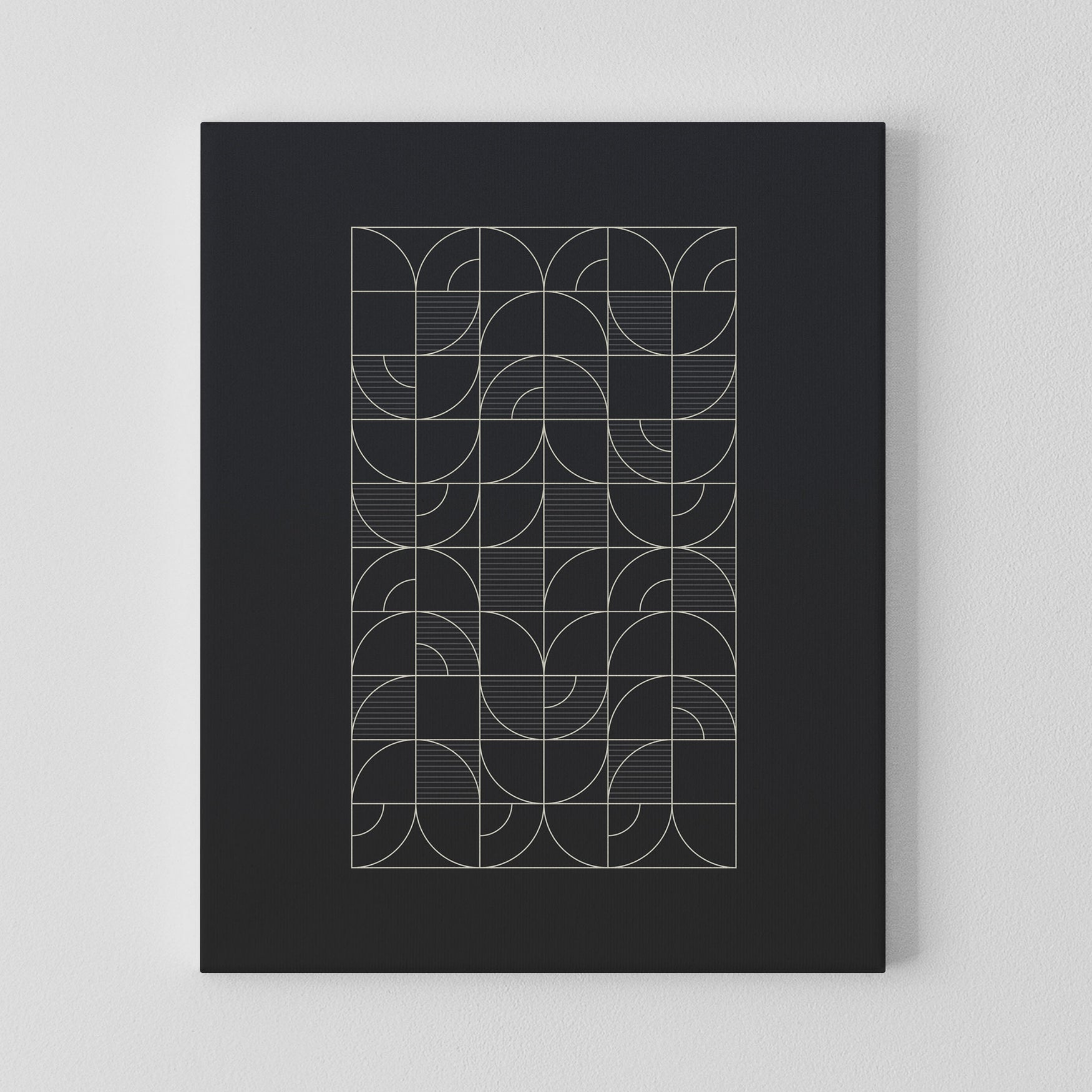 Image of Geometric Night Harvest Canvas Print