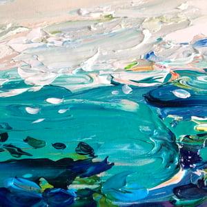 Image of Coastal no.49 - 30x30cm FRAMED