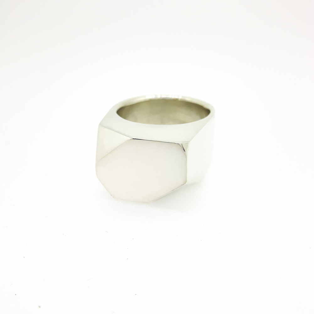 Image of Faceted Box Ring
