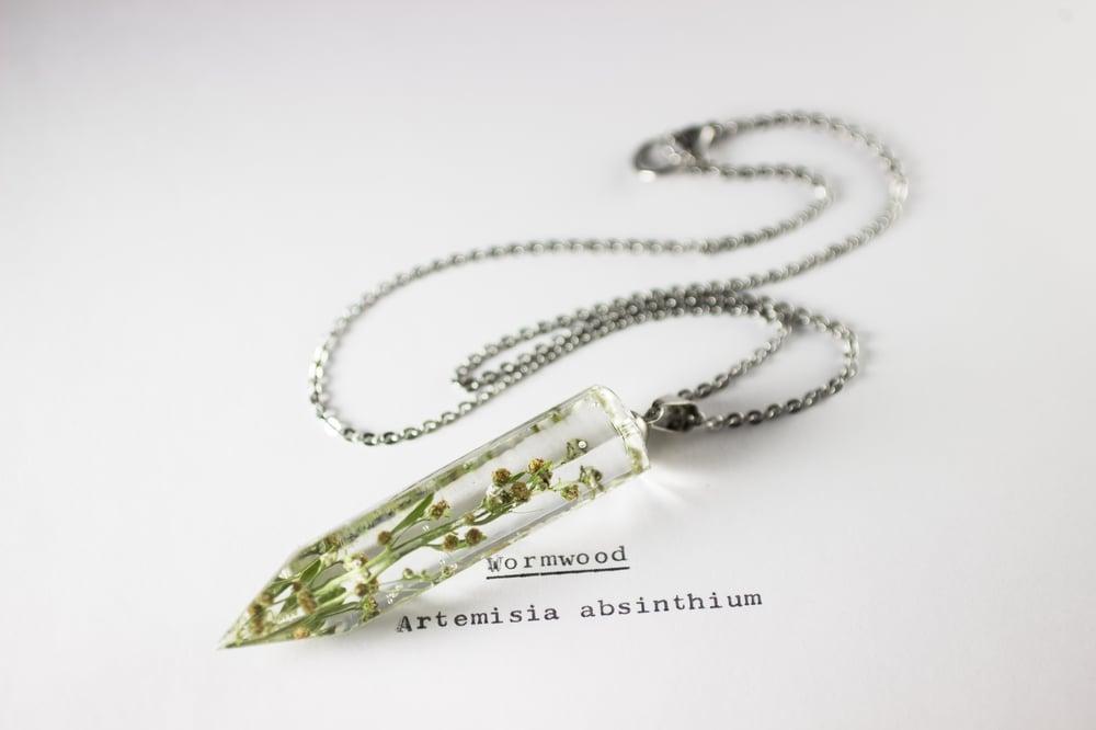 Image of Wormwood (Artemisia absinthium) - Large Crystalline Pendant #1