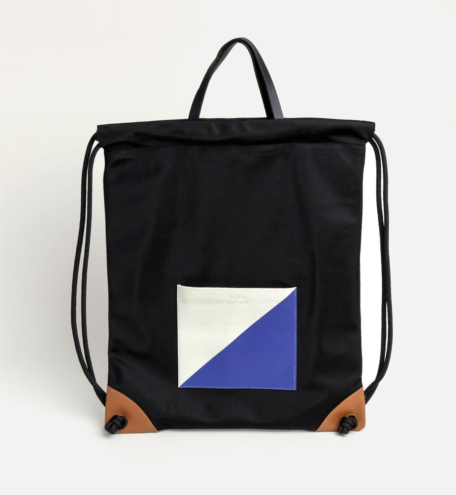 Image of The square - Drawstrig Backpack • Black