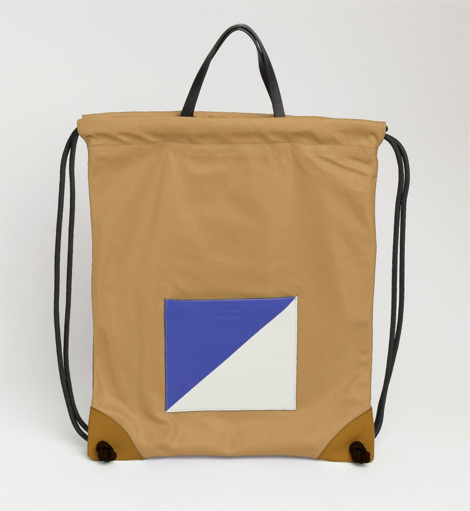 Image of The square - Drawstrig Backpack • Tan