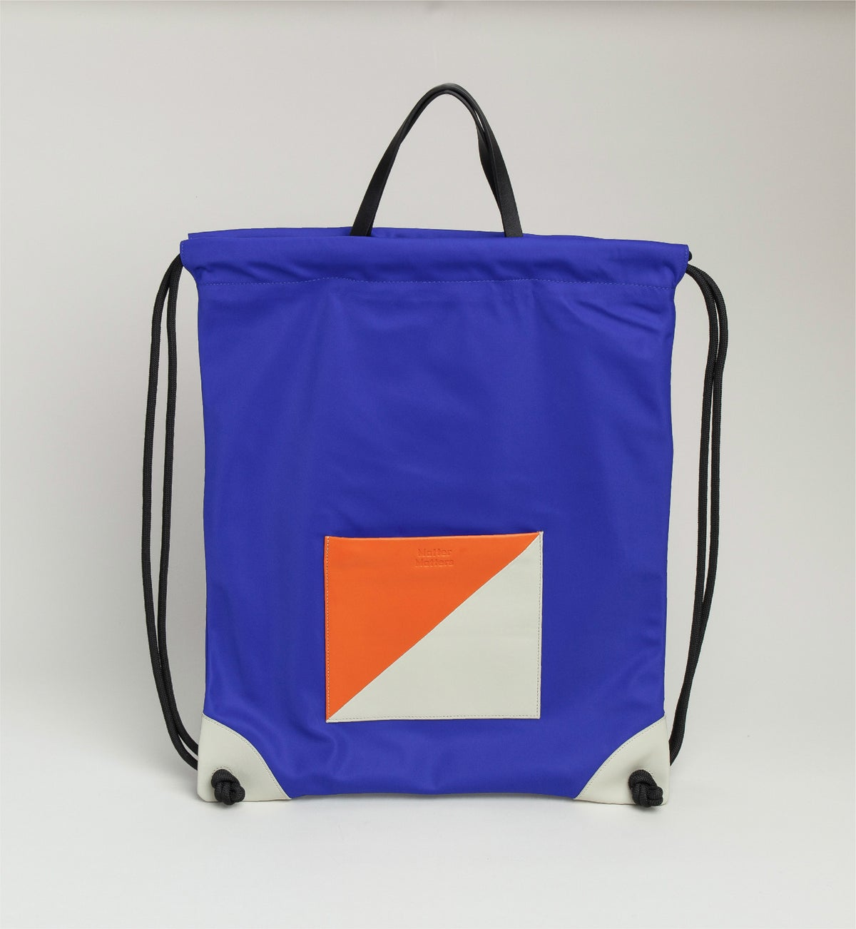 Image of The square - Drawstrig Backpack • Blue