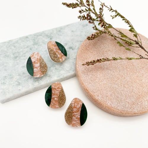 Image of Pebble Studs (tri-coloured)