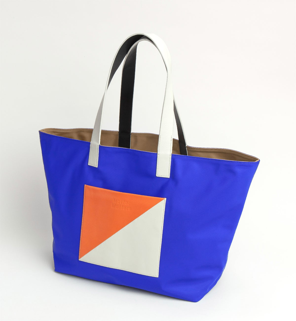 Image of The square - Reversible tote bag • Tan + Blue