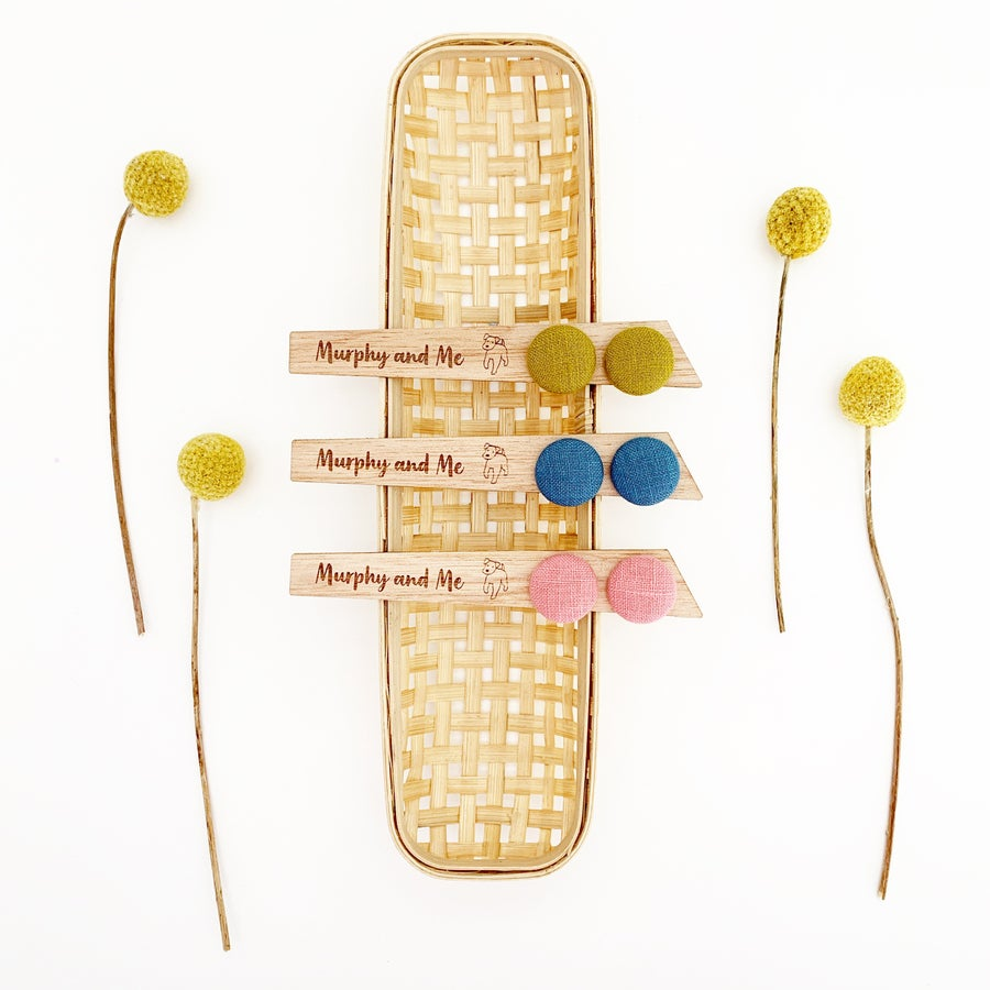 Image of Spring Linen Studs