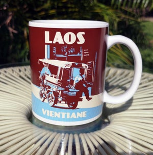 Image of Mug Laos Vientiane Limited Edition 11oz - Coffee mug / OUT OF STOCK