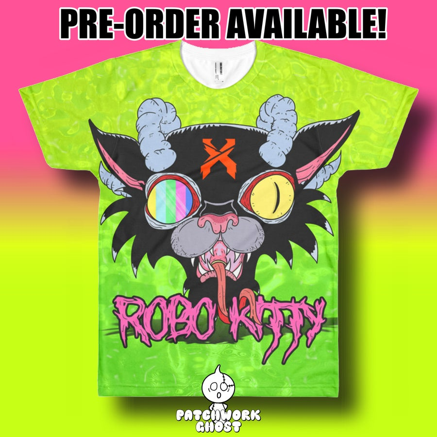 Image of Robo Kitty Shirt Pre-Order