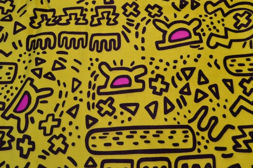 Image of Brand New Mid Century Style Footstool Keith Haring Inspired Various Colours