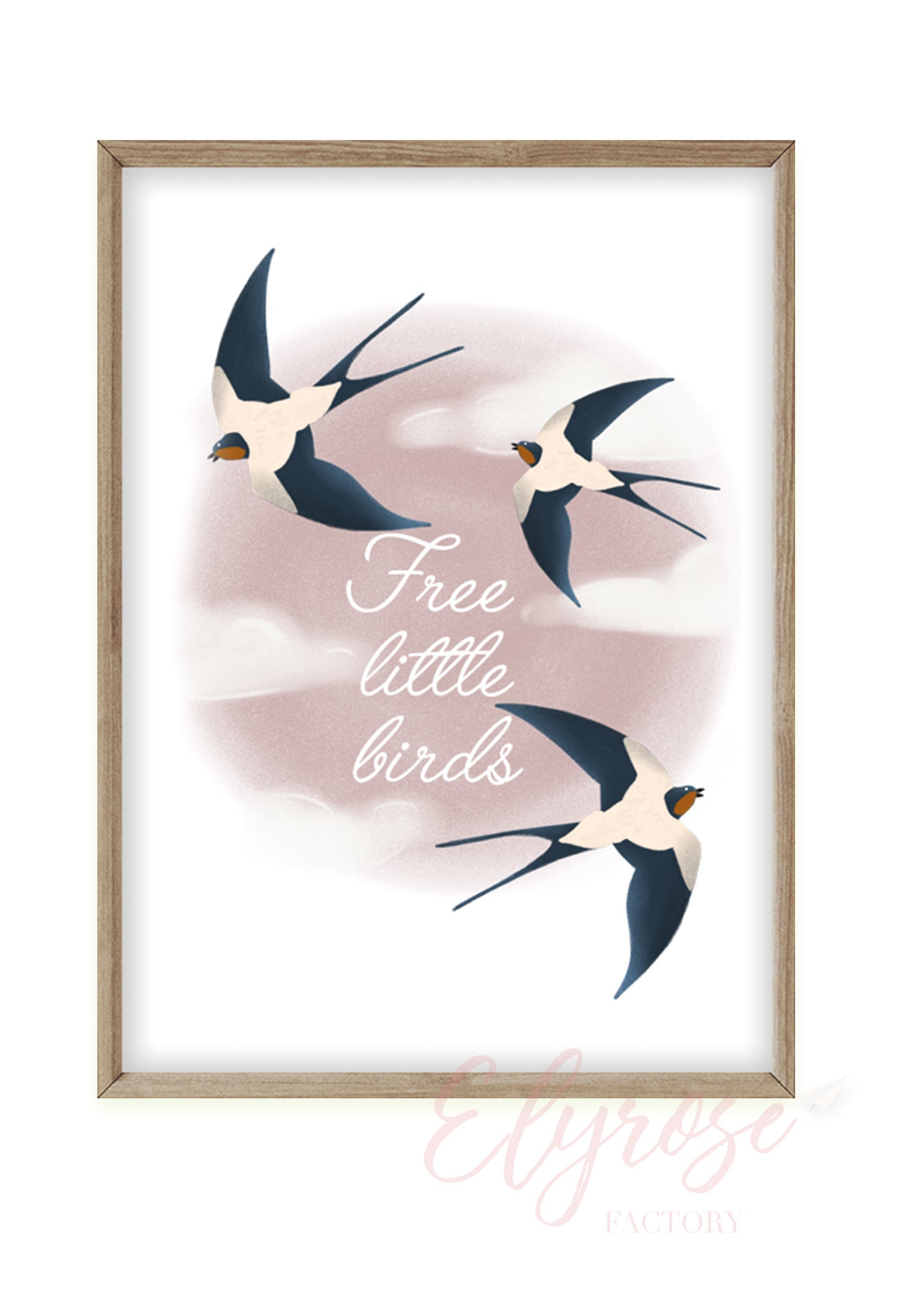 Image of Affiche Free little birds