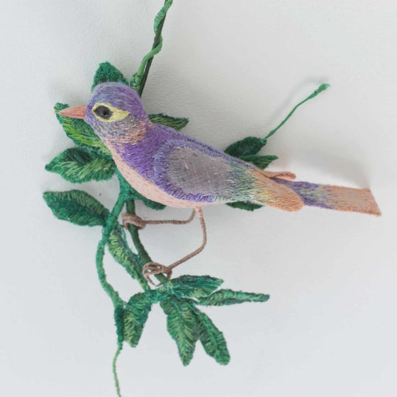 Image of Bird and Leaves