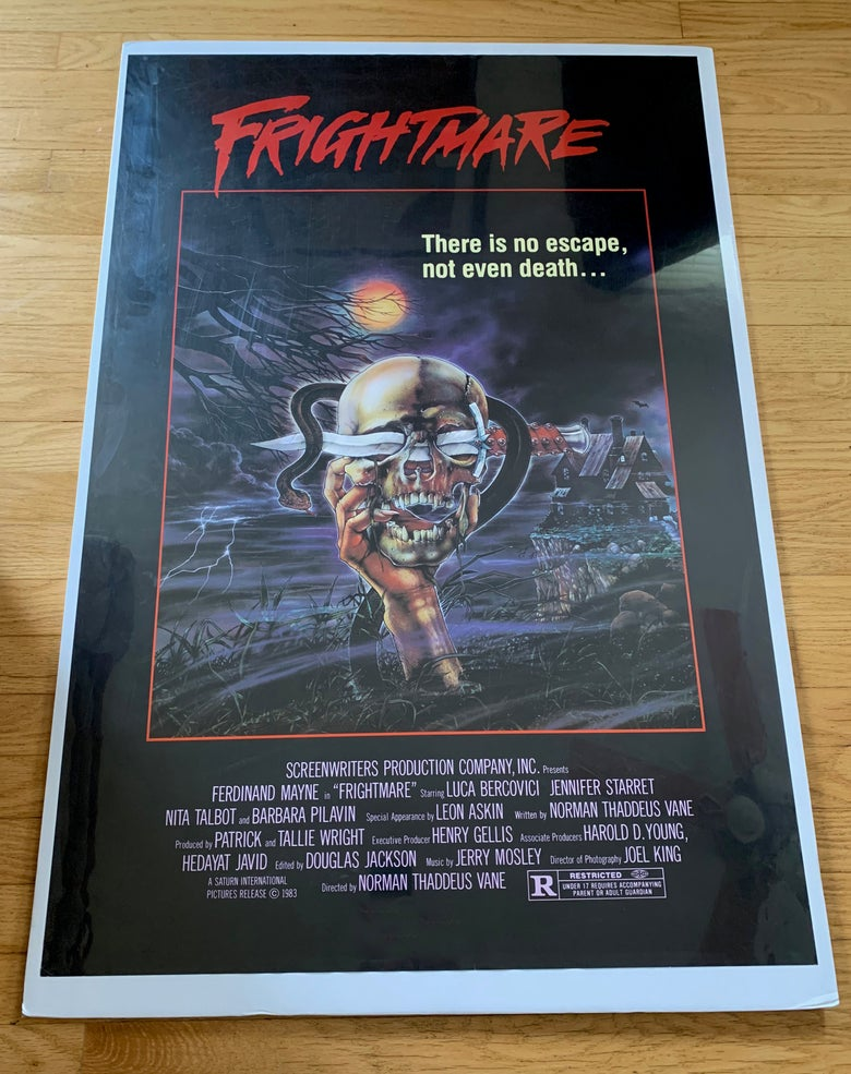 Image of 1983 FRIGHTMARE (Skull Style) Original U.S. One Sheet Movie Poster