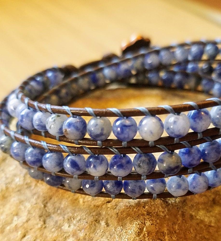 Image of Sodalite Triple Wrap Bracelet