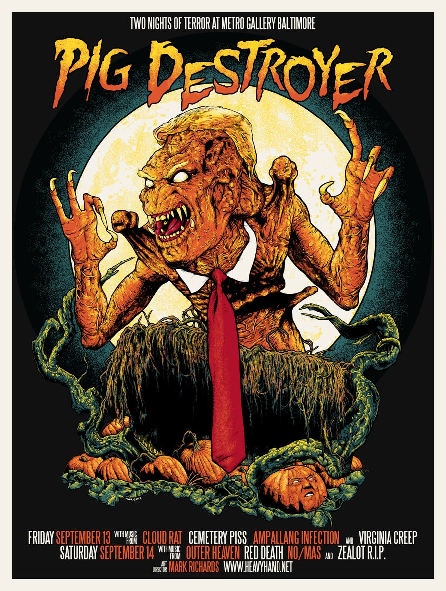 "Image of Pig Destroyer ""Two Nights Of Terror"" Poster"