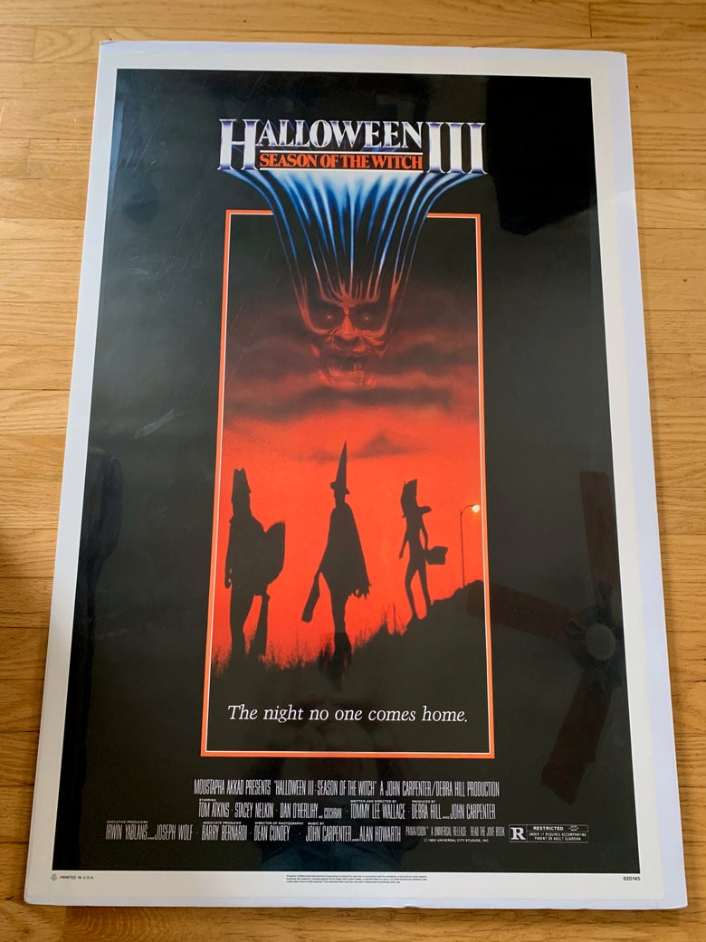 Image of 1982 HALLOWEEN III SEASON OF THE WITCH Original U.S. One Sheet Movie Poster